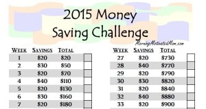 2015 Money Saving Challenge_52 Weeks
