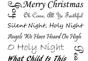 Christmas Carols Black and White