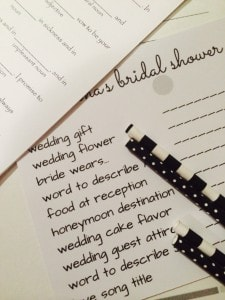 bridal scattergories