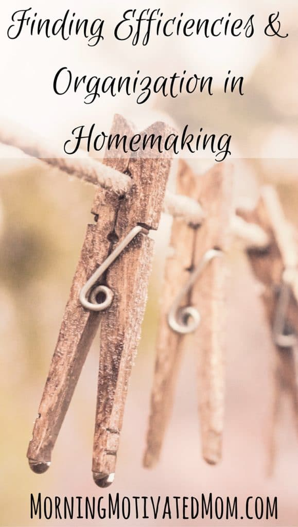 Finding Efficiencies and Organization in Homemaking
