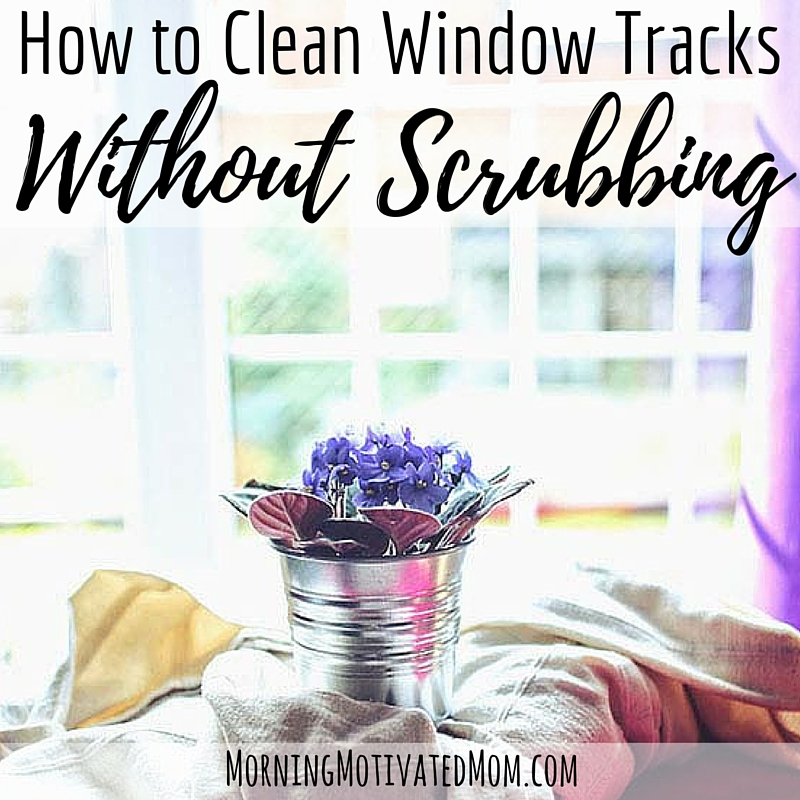How to Clean Window Tracks without scrubbing. Easy with vinegar and baking soda.