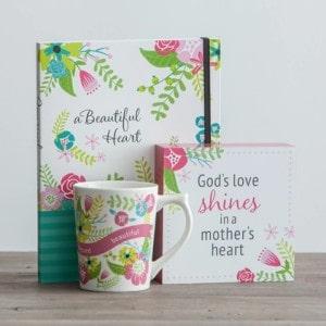 Beautiful Beyond Words - Journal, Plaque, and Mug Gift Set