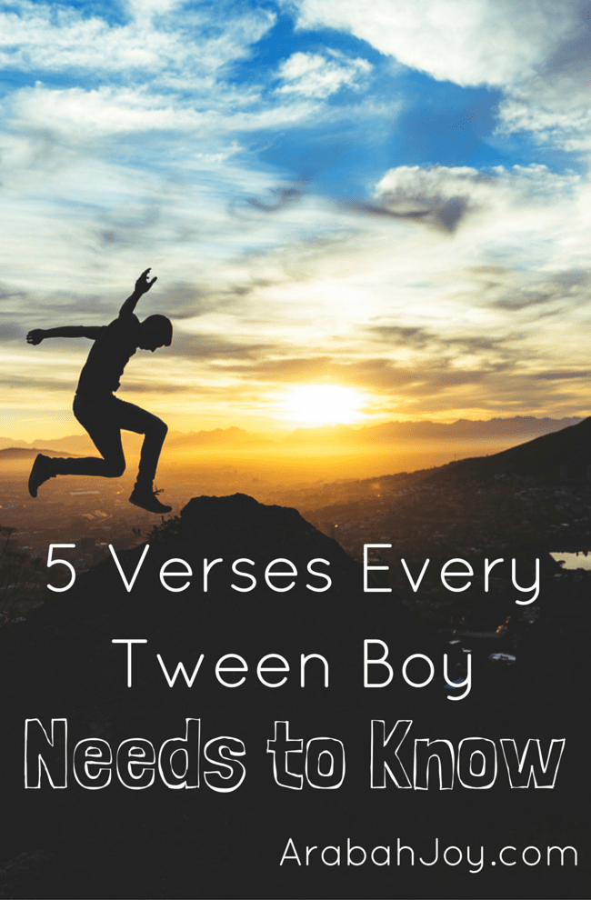 5 Verses Every Tween Boy Needs to Know Pin