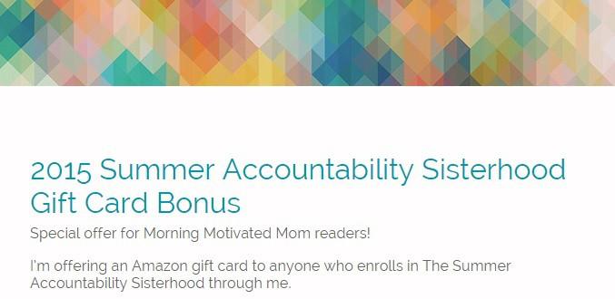 Summer Accountability Gift Card Bonus