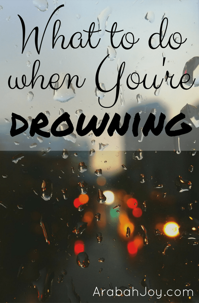 What to do when You're Drowning Pin