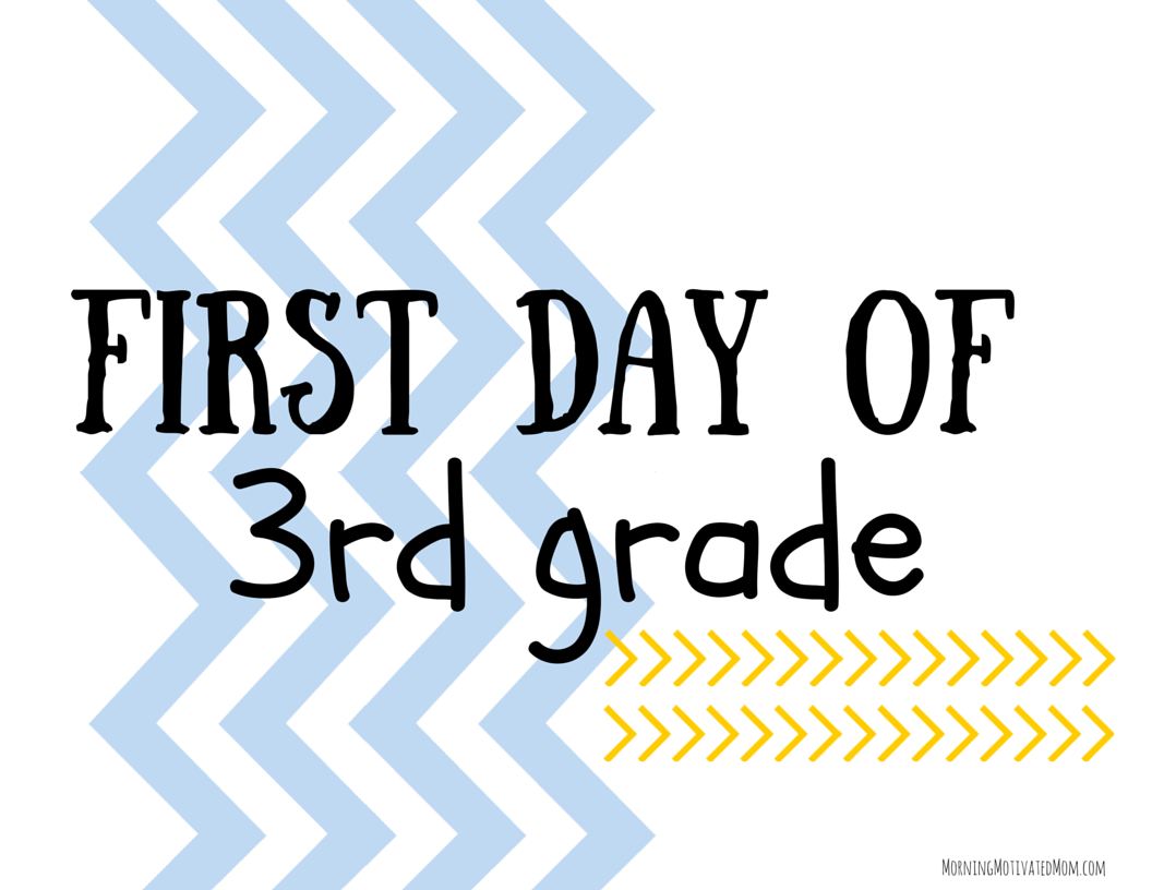 It is a photo of Dramatic First Day of 3rd Grade Printable