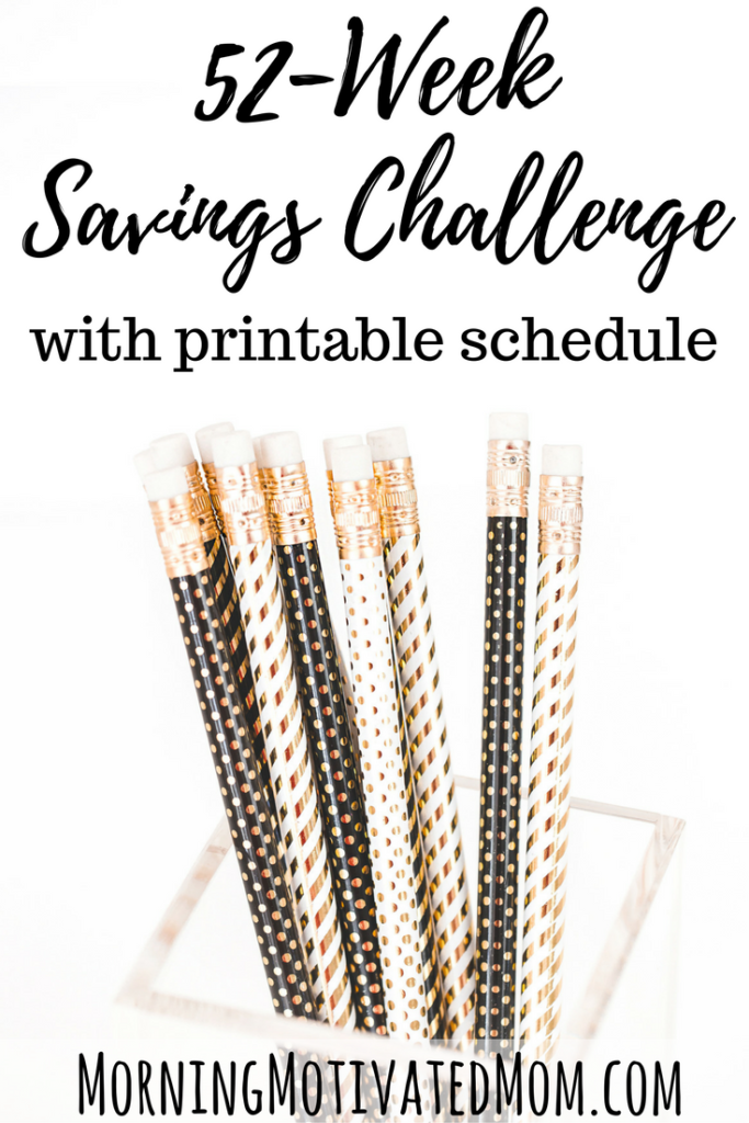 52 Week Savings Challenge Printable. Save money every week and track your progress on the printable