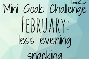February Mini Goal Challenge: Less Evening Snacking.