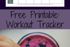 Free Fitness Tracker Printable. Free Weekly Workout Log.