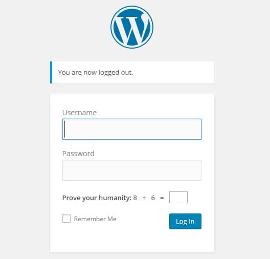 Log into WordPress to start your blog
