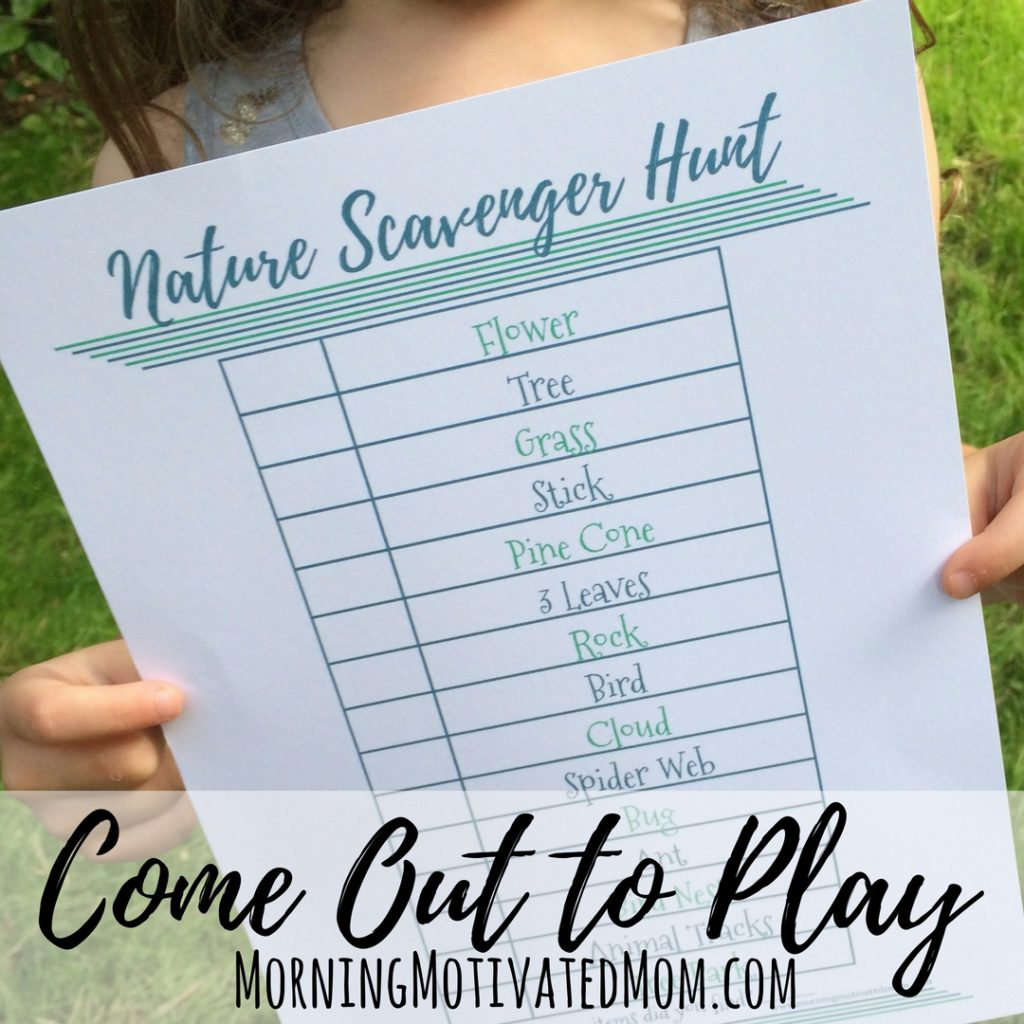 Get Outdoors with Your Kids & Nature Scavenger Hunt Printable
